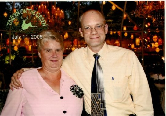 My Wife Linda with some bald guy
